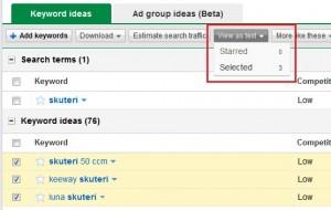 Novi izgled keyword toola 9
