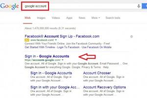 Pretraga google account