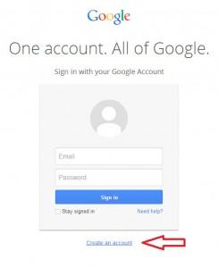 Kreiranje novog Google accounta