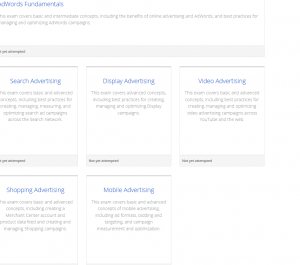 Google Partners Adwords Certification exams
