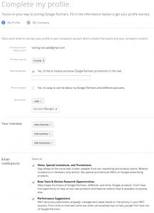 Google partner profile