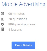 AdWords mobile test info