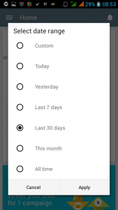 AdWords App Date range