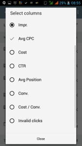 AdWords App custom columns 2